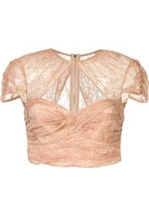 Alice Mccall Blusa Cropped 'Sweetly' - Neutro