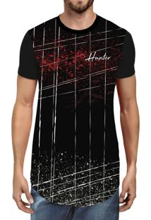 Camiseta Hunter Long Line R2 Preta