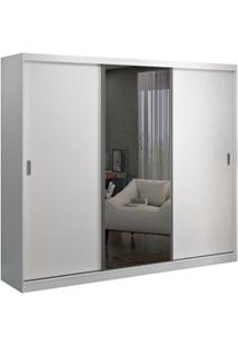 Guarda Roupa Casal 3 Portas De Correr 1 Espelho Winter F04 Branco- Mpo