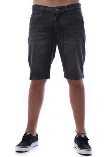 Bermuda Jeans Zero Marina Black Masculina - Masculino