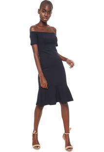 3690e1e66 Vestido Azul Marinho Colcci feminino | Starving