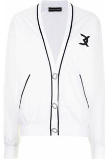 David Koma Jaqueta Bomber Com Logo Bordado - Branco