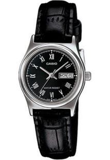 Relógio Feminino Casio Analógico Ltp-V006L1Budf - Unissex-Preto