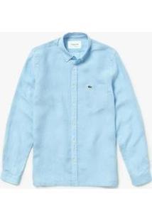 Camisa Lacoste Regular Fit Masculina - Masculino-Azul Claro