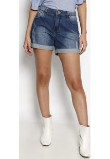 Bermuda Jeans Com Puídos - Azulvide Bula