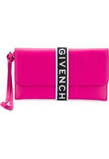 Givenchy Carteira De Couro Com Logo - Rosa