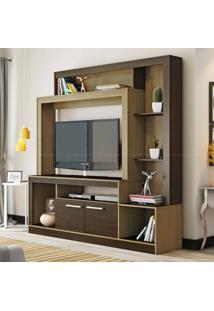 Estante Para Tv Até 47 Polegadas 2 Portas Es225 Castanho/Nogueira - Decibal