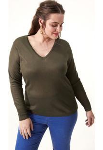 f3a9ae46fc ... Blusa Gola V Em Retilínea Curve   Plus Size