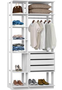 Closet Modulado C/ 3 Gavetas Clothes 9004 - Be Mobiliário - Branco