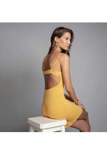 Vestido Com Alças Justo Amarelo Caramelo - Lez A Lez