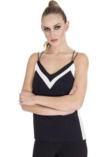Regata Bicolor Calvin Klein Feminina - Feminino-Preto