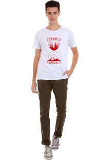 Camiseta Masculina Joss Time Kills Vermelho Branco