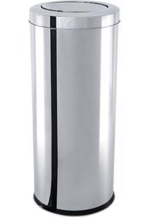 Lixeira Com Tampa Basculante- Inox- 29Xø18,5Cm- Brinox