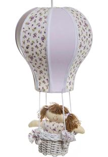 Lustre Balão Cintura Quarto Bebê Infantil Menina Potinho De Mel Lilás