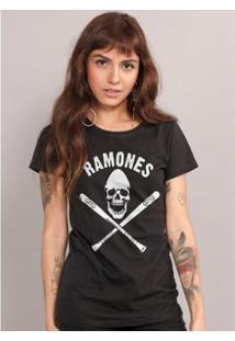 Camiseta Bandup! Ramones Gabba Gabba Hey - Feminino-Preto