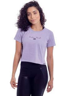 Camiseta Ecko Cropped Estampada Lilás