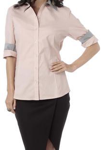 Camisa Energia Com Recortes Rosa