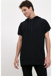 Camiseta Com Capuz Em Moletom