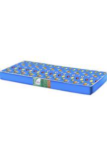 Colchão Solteiro 14Cmx88Cmx188Cm Pro Confort Hellen Colchões Azul