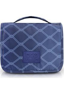 Necessaire De Viagem Com Alça Estampado Jacki Design Viagem Azul