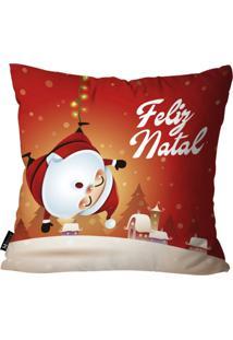 Capa Para Almofada Mdecore Feliz Natal Vermelho 35X35