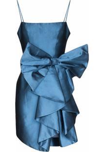 Rasario Vestido Mini Com Laço - Azul