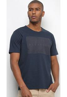 Camiseta Aleatory Relevo Masculina - Masculino-Marinho