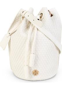 Bolsa Shoestock Bucket Tresse Feminina - Feminino-Off White