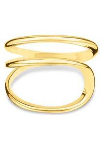 Anel Link Ouro Amarelo Pequeno