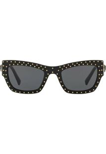 Versace Eyewear Studded Cat-Eye Sunglasses - Preto