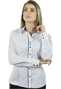 Camisa Pimenta Rosada Margaret - Feminino-Branco+Azul