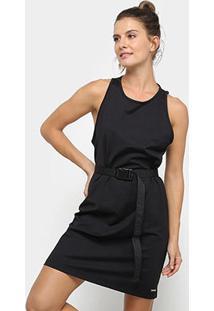 Vestido Colcci Fitness Curto Com Cinto - Feminino-Preto