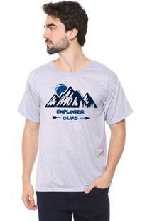 Camiseta Masculina Eco Canyon Explore Club Cinza