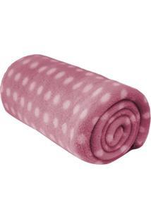 Cobertor Microfibra Baby Poã¡- Rosa Claro & Branco- 9Camesa