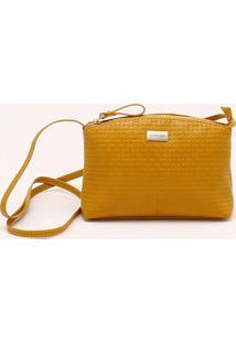 Bolsa Shoulder Bag Tramada Amarelo Ipê - P
