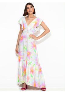 Vestido Longo Chita Bali Estampado