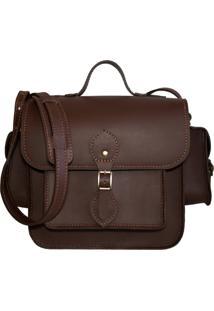 Bolsa Line Store Leather Juniper Couro Marrom Premium - Kanui