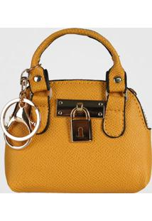 Porta Moedas Chaveiro Mini Bag Le Postiche (Amarelo, Único)