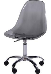 Cadeira Eames Dkr- Fum㪠& Prateada- 93X47X41Cm- Or Design