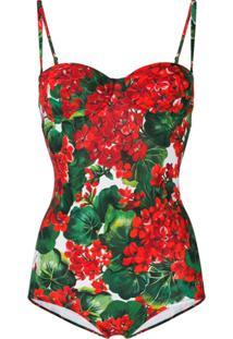 Dolce & Gabbana Maiô Com Estampa - Vermelho