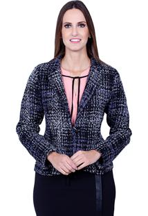 Blazer Love Poetry Estampado Azul