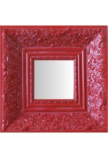 Espelho Moldura Rococó Fundo 16156 Vermelho Art Shop