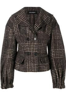 Dolce & Gabbana Tweed Check Jacket - Marrom
