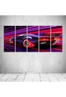 Quadro Decorativo - Pantera Car Artwork - Composto De 5 Quadros - Multicolorido - Dafiti