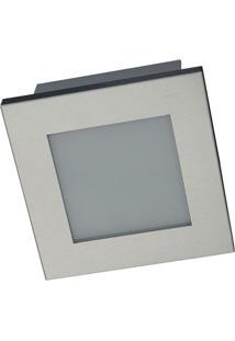 Luminária De Teto Embutido Rooflight Pte 1515 Escovado 1 Lampâda 100W
