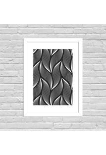 Quadro Decorativo Minimalista Geométrico Branco - Médio