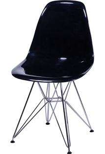 Cadeira Eames Dkr Or-1101Pc C/ Pés Cromados – Or Design - Preto