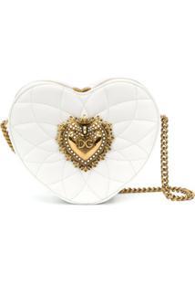 Dolce & Gabbana Bolsa Devotion Matelassê - Branco
