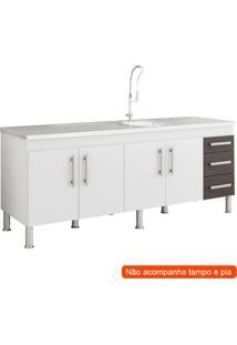 Balcão De Cozinha Flex 4 Pt 3 Gv Branco E Café