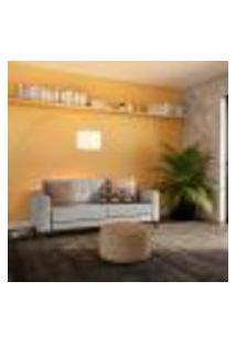 Sofá 3 Lugares Calmness Pés E Base Em Madeira Linho Cotton Cru 180 Cm